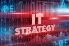 IT strategy concept. Red background red text Royalty Free Stock Photos