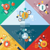 Strategy Concept Set royalty free illustration