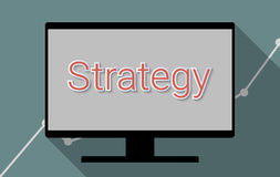 Strategy. Concept for successful ideas, business planning and strategic thinking. Flat design illustration Stock Photo