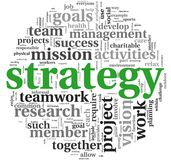 Strategy concept in word tag cloud Stock Image