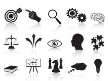 Strategy concepts icons set Stock Photos