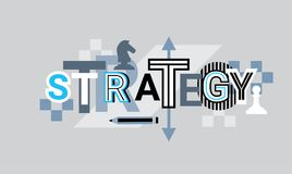 Strategy Creative Word Over Abstract Geometric Shapes Background Web Banner Stock Photography