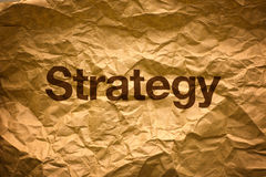 Strategy on Crumpled paper Royalty Free Stock Photos