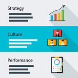 Strategy culture performance business template Stock Photo
