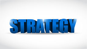 Strategy 3d word illustration design Royalty Free Stock Photography