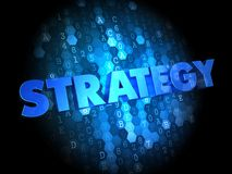 Strategy on Dark Digital Background. Stock Photography