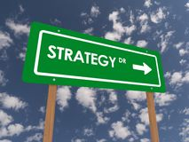 Strategy drive sign Stock Photo