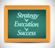 Strategy execution, success illustration design Stock Photos