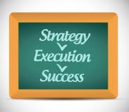 Strategy execution, success illustration design Stock Photos
