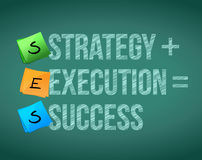 Strategy execution to success concept illustration Stock Images
