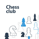 Strategy game, chess background Stock Image