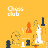 Strategy game, chess background Royalty Free Stock Photo