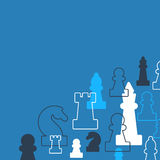 Strategy game, chess background Stock Images