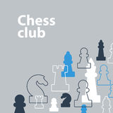 Strategy game, chess background Royalty Free Stock Image