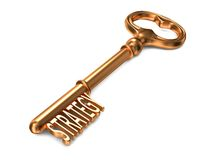 Strategy - Golden Key. Stock Photo