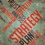 Strategy - Grunge Word Cloud Concept. Royalty Free Stock Photos