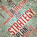 Strategy - Grunge Word Cloud Concept. Royalty Free Stock Photography