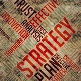 Strategy - Grunge Wordcloud. Stock Image