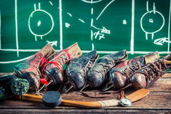 Strategy in hockey matches Royalty Free Stock Images