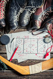 Strategy in hockey Royalty Free Stock Photography