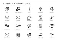 Strategy icon set Stock Photography