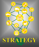 Strategy Icons Means Tactics Tactic And Strategies Stock Photos
