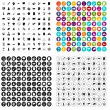 100 strategy icons set vector variant. 100 strategy icons set vector in 4 variant for any web design isolated on white Stock Image