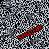 STRATEGY info Royalty Free Stock Image