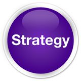 Strategy premium purple round button Royalty Free Stock Photo