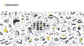 Free Strategy Isometric Illustration Stock Photography - 211910362