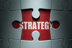 Strategy jigsaw puzzle Stock Photography