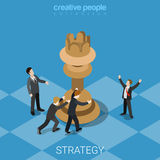 Strategy knight move business chess queen flat vector isometric Stock Image
