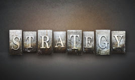Strategy Letterpress Royalty Free Stock Photos