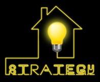 Strategy Light Indicates Planning Commerce y Corporation Imágenes de archivo libres de regalías