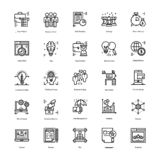 Strategy And Management Icons Pack royalty free illustration