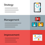 Strategy management improvement template Royalty Free Stock Photography