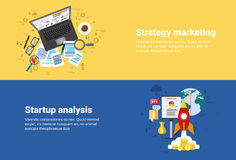Strategy Marketing Plan, Startup Analysis Financial Business Web Banner Royalty Free Stock Photography