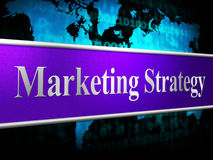 Strategy Marketing Represents Solutions Promotions And Vision Stock Images