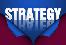 Strategy plan. Strategy, marketing words concept Royalty Free Stock Photo