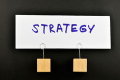 Strategy, One big paper note on black for presentation Royalty Free Stock Photos