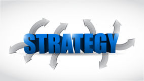 Strategy options concept illustration design Royalty Free Stock Images