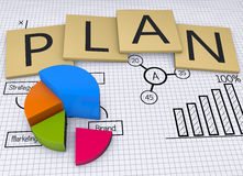 Strategy plan. Business strategy planning as background stock image