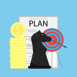 Strategy and plan. Process development strategy finance, vector illustration Stock Photos
