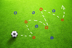 Strategy plan soccer ball game background Stock Image