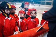Strategy plan tactics in hockey. Matches stock images