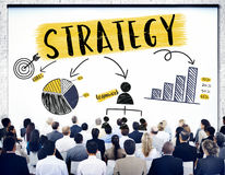 Strategy Planning Branding Chart Graphic Concept. People Discuss Strategy Planning Branding Chart stock images