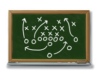 Strategy planning game plan chalk board football b Royalty Free Stock Photography
