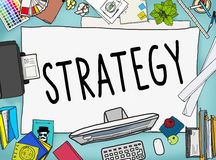 Strategy Planning Solution Vision Tactics Concept Stock Image