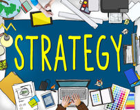 Strategy Planning Solution Vision Tactics Concept Stock Images