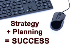Strategy+Planning=Success words Royalty Free Stock Photography